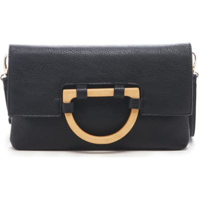 Sole Society Ardel Faux Leather Clutch - Black