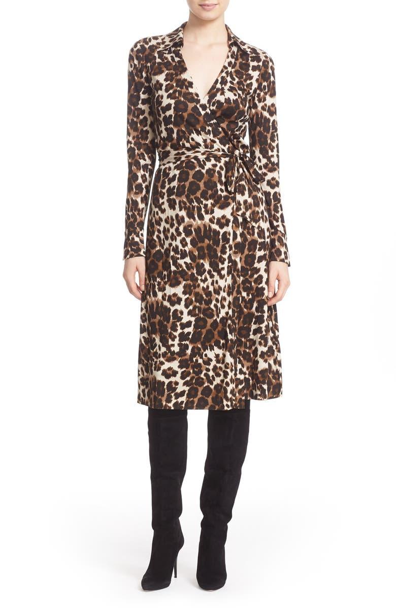 f70d06161f60 Diane von Furstenberg 'Cybil' Leopard Print Silk Wrap Dress | Nordstrom