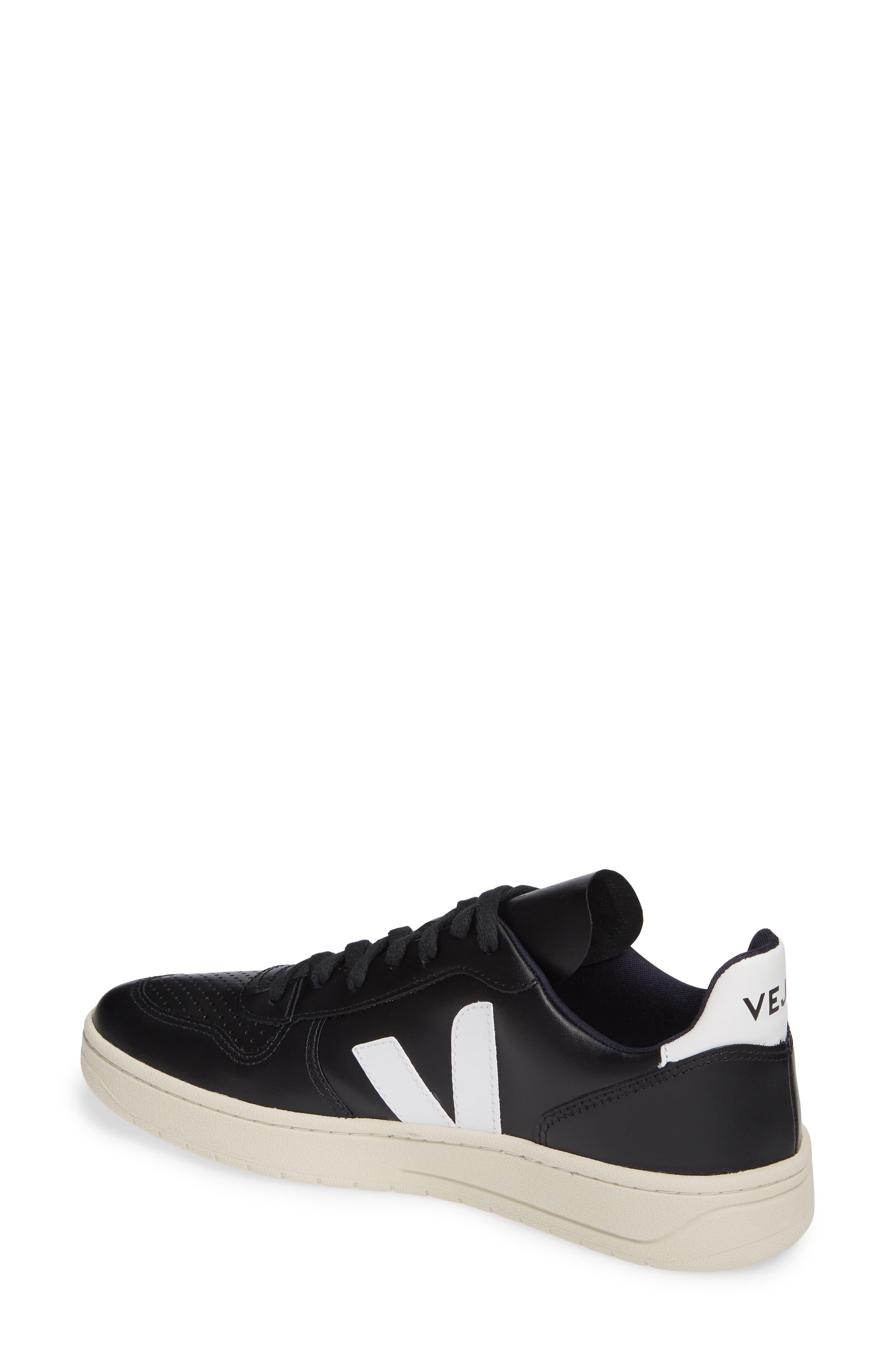 ,                             V-10 Sneaker,                             Alternate thumbnail 2, color,                             BLACK WHITE