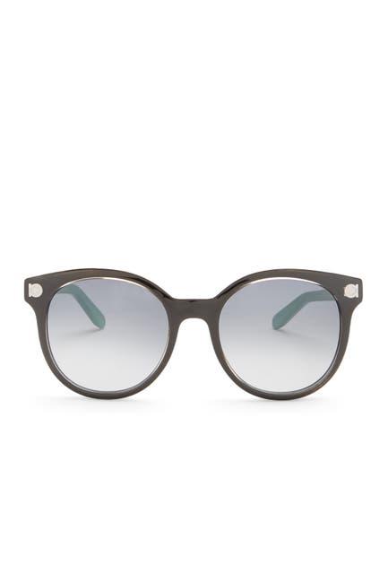 Image of Salvatore Ferragamo 53mm Round Acetate Sunglasses