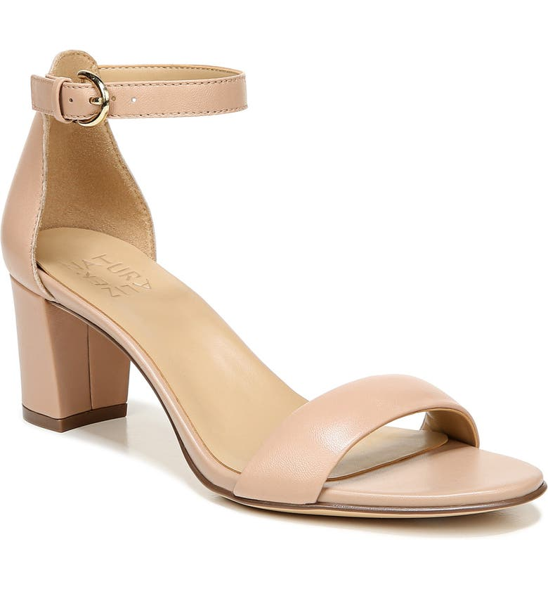 NATURALIZER Vera Ankle Strap Sandal, Main, color, BARELY NUDE LEATHER