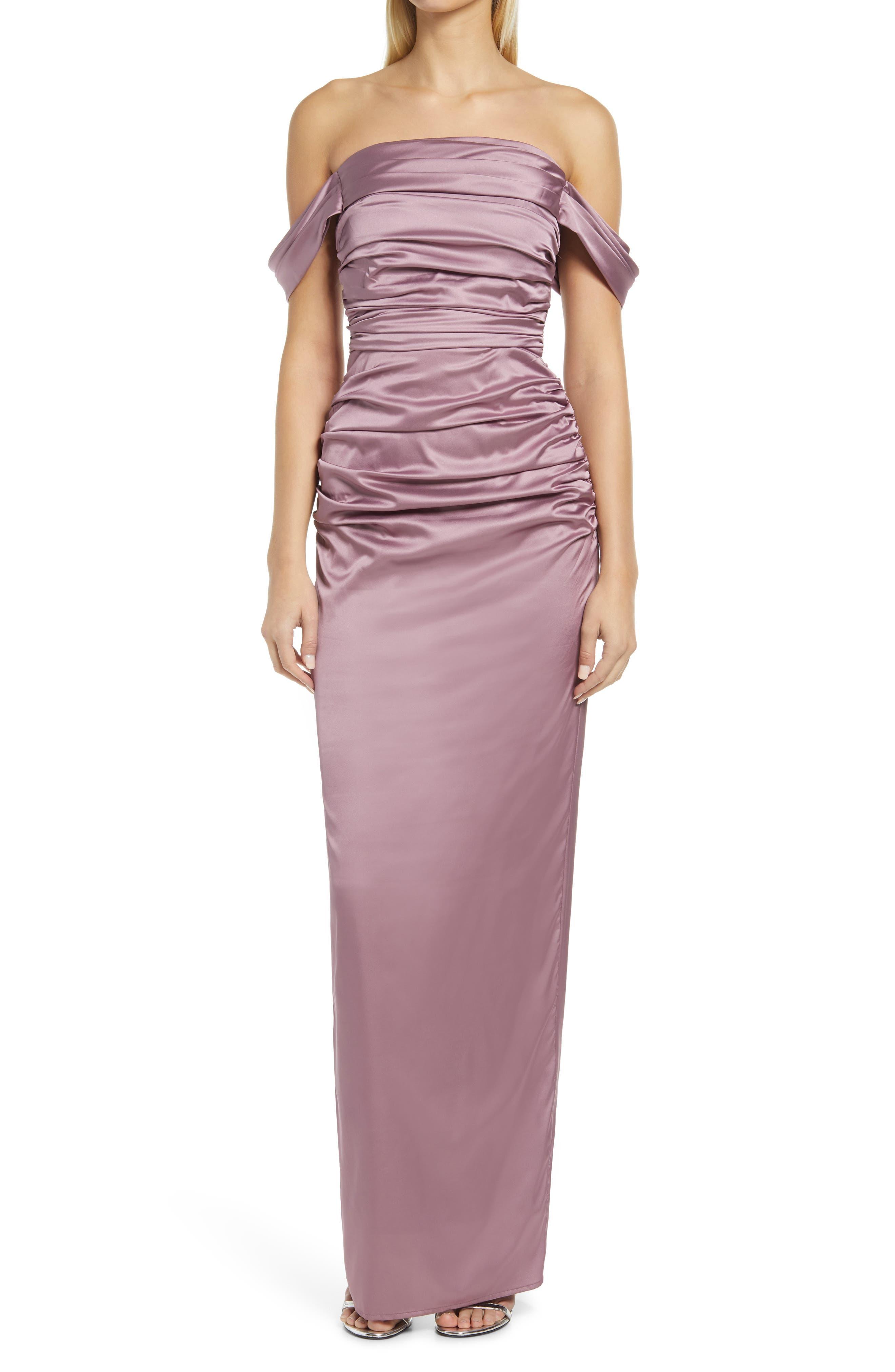 Bardot Off The Shoulder Bridesmaid Dress