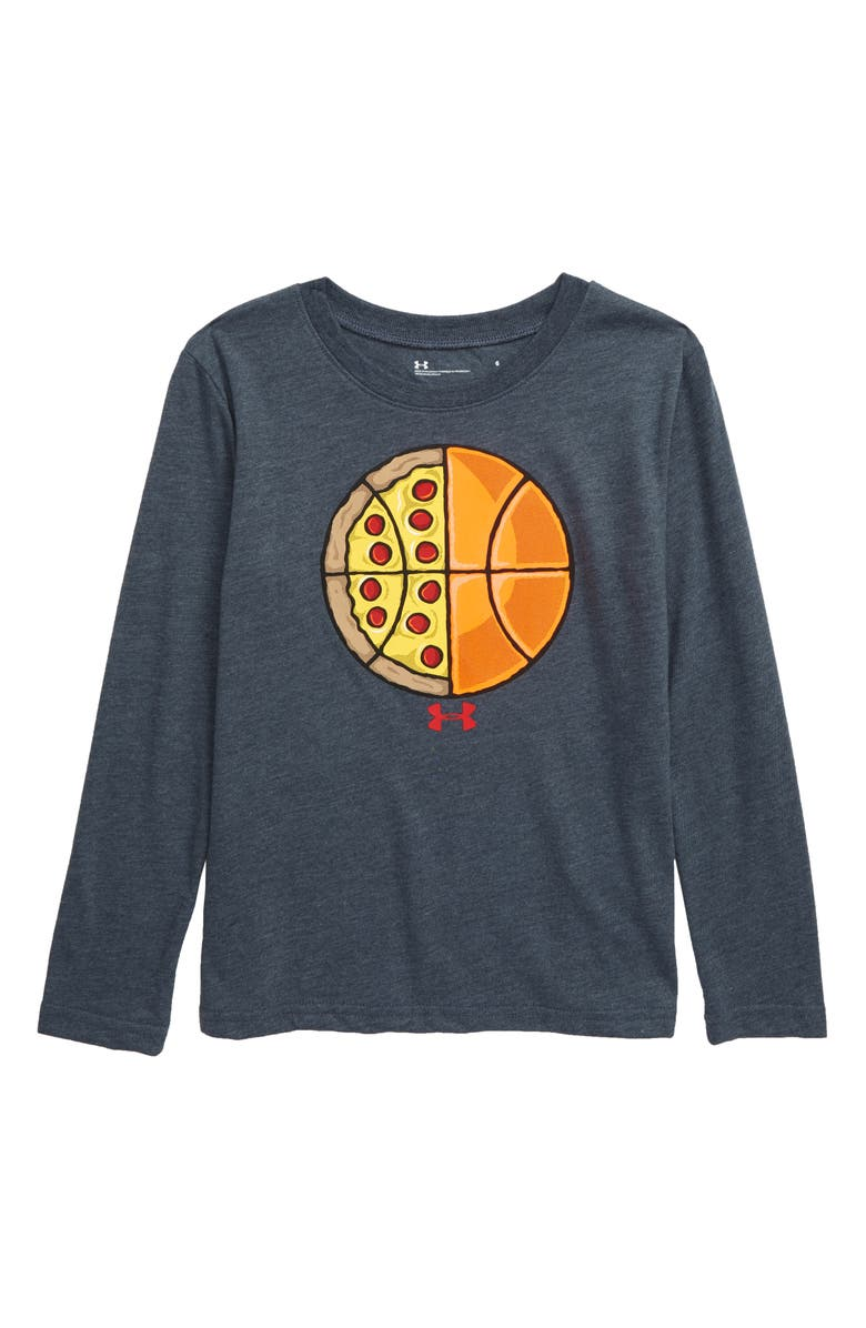 UNDER ARMOUR Pizza Basketball Graphic T-Shirt, Main, color, 400
