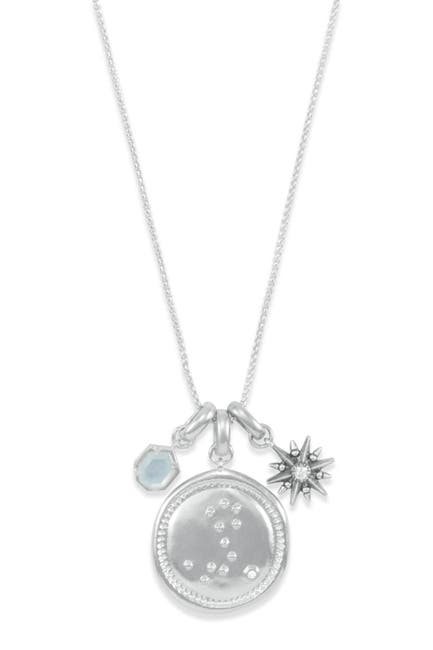 Image of Kendra Scott Rhodium Plated Pisces Charm Necklace