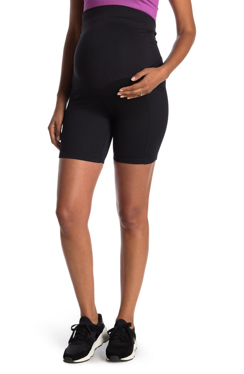 Z BY ZELLA Daily High Waisted Bike Shorts, Main, color, BLACK