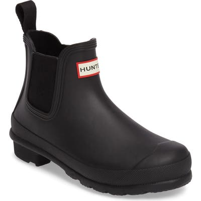 Hunter Original Waterproof Chelsea Rain Boot, Black