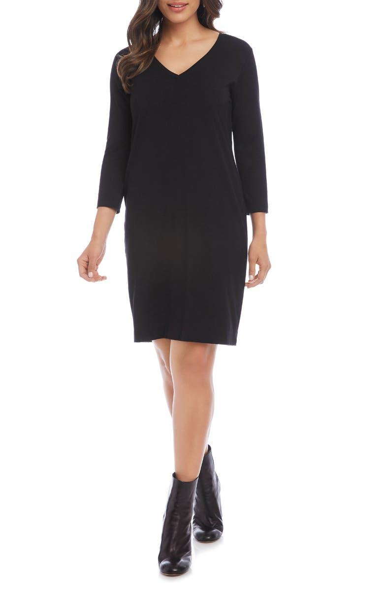 Jane V Neck Shift Dress by Karen Kane