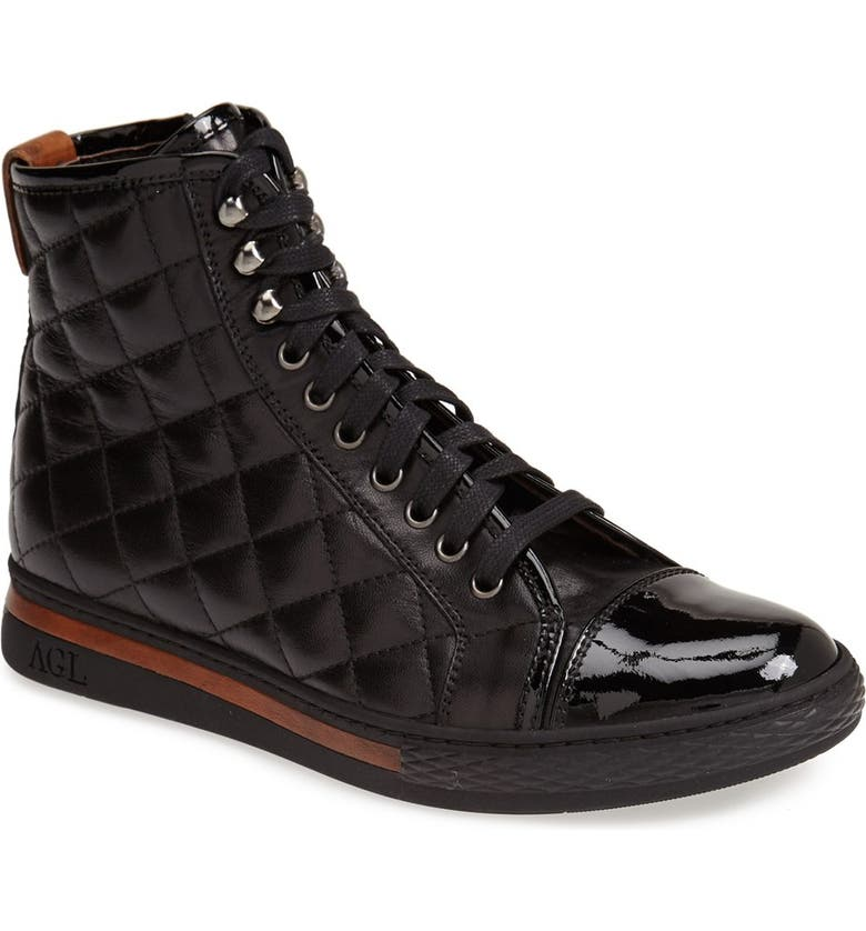 5ad1861e2 Attilio Giusti Leombruni Quilted Leather High Top Sneaker, Main, color, 001