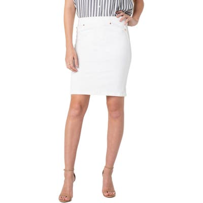 Liverpool Pull-On Pencil Skirt, White