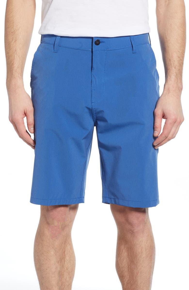 TRUNKS SURF & SWIM CO. Hybrid Board Shorts, Main, color, PERSIAN BLUE/ TWILIGHT STRIPE