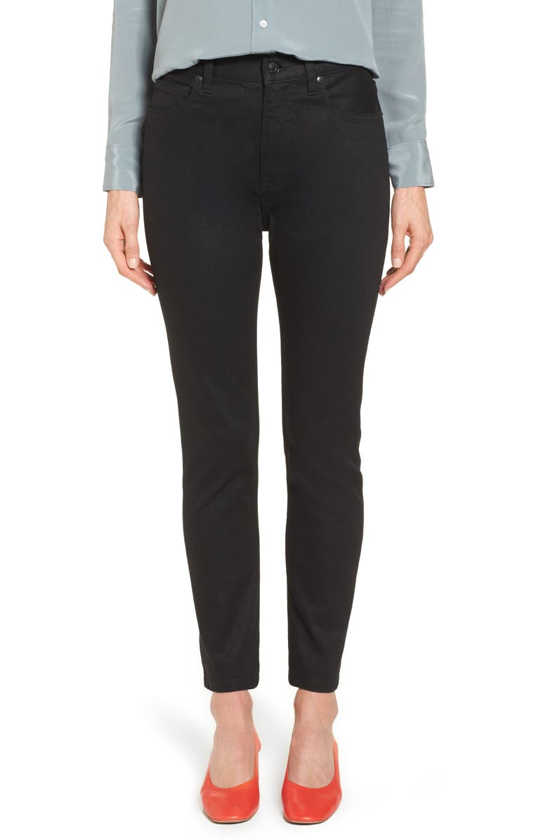 EVERLANE The High Rise Skinny Jeans, Main, color, 001