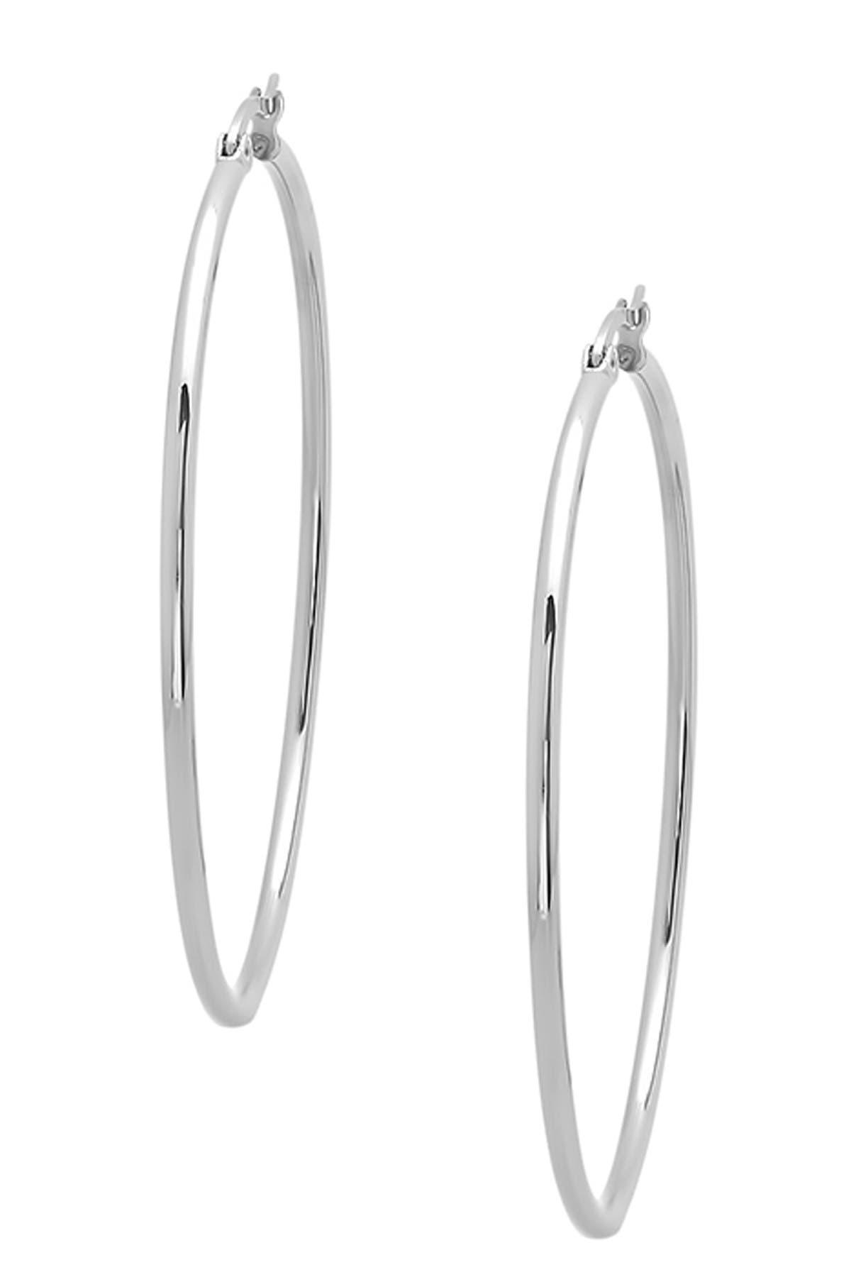 Image of HMY Jewelry Stainless Steel Hoop Earrings