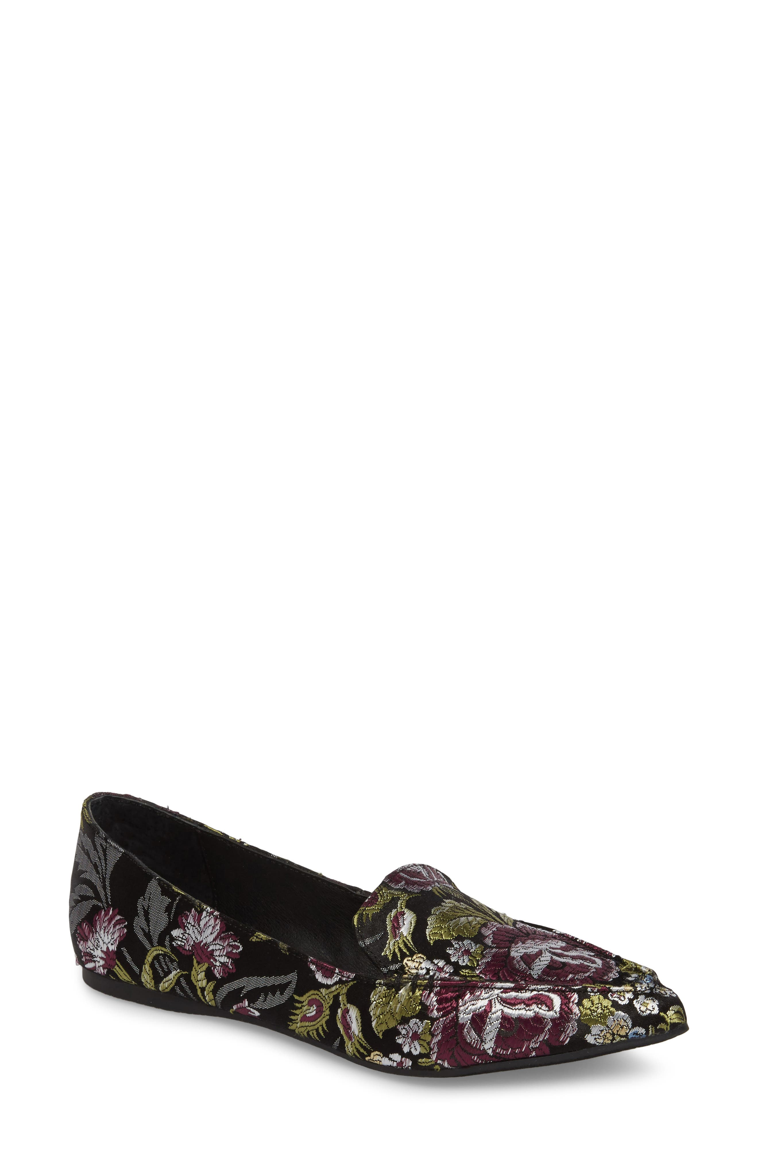 ,                             Feather Loafer Flat,                             Main thumbnail 49, color,                             002