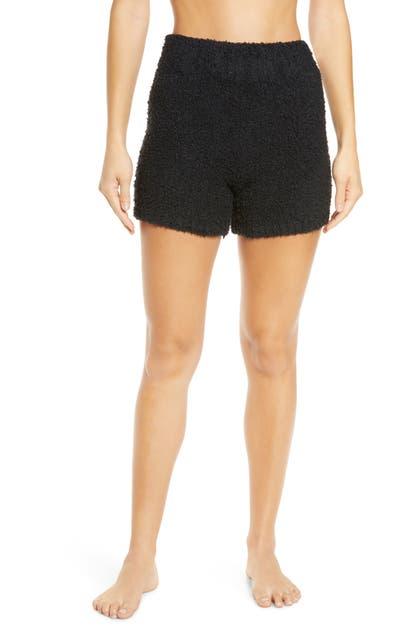Skims Cozy Knit Shorts In Onyx