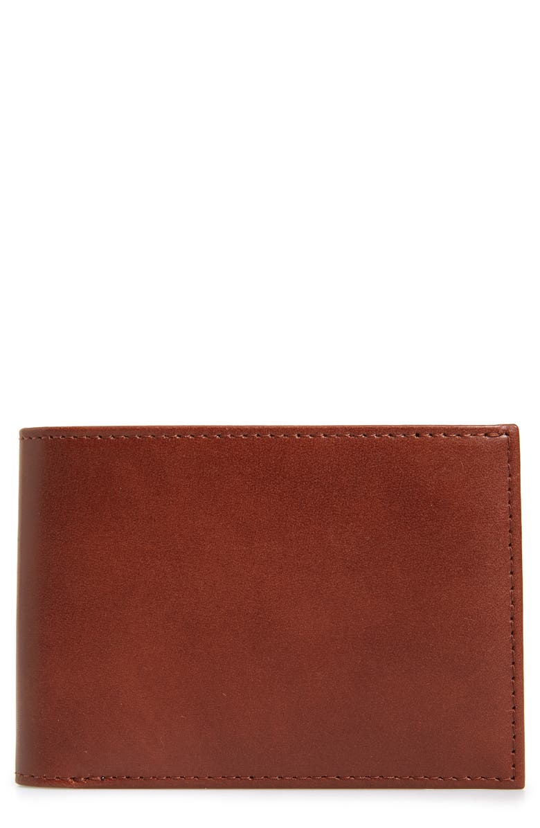 NORDSTROM MEN'S SHOP Chelsea Leather Wallet, Main, color, BROWN CHINO