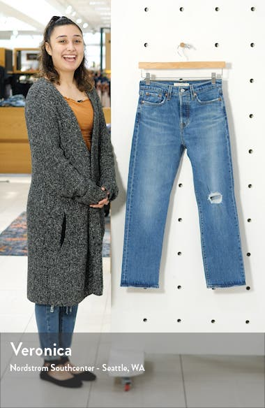 Wedgie High Waist Straight Leg Ankle Jeans, sales video thumbnail