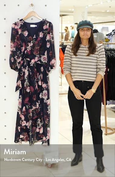 Flower Print High/Low Dress, sales video thumbnail