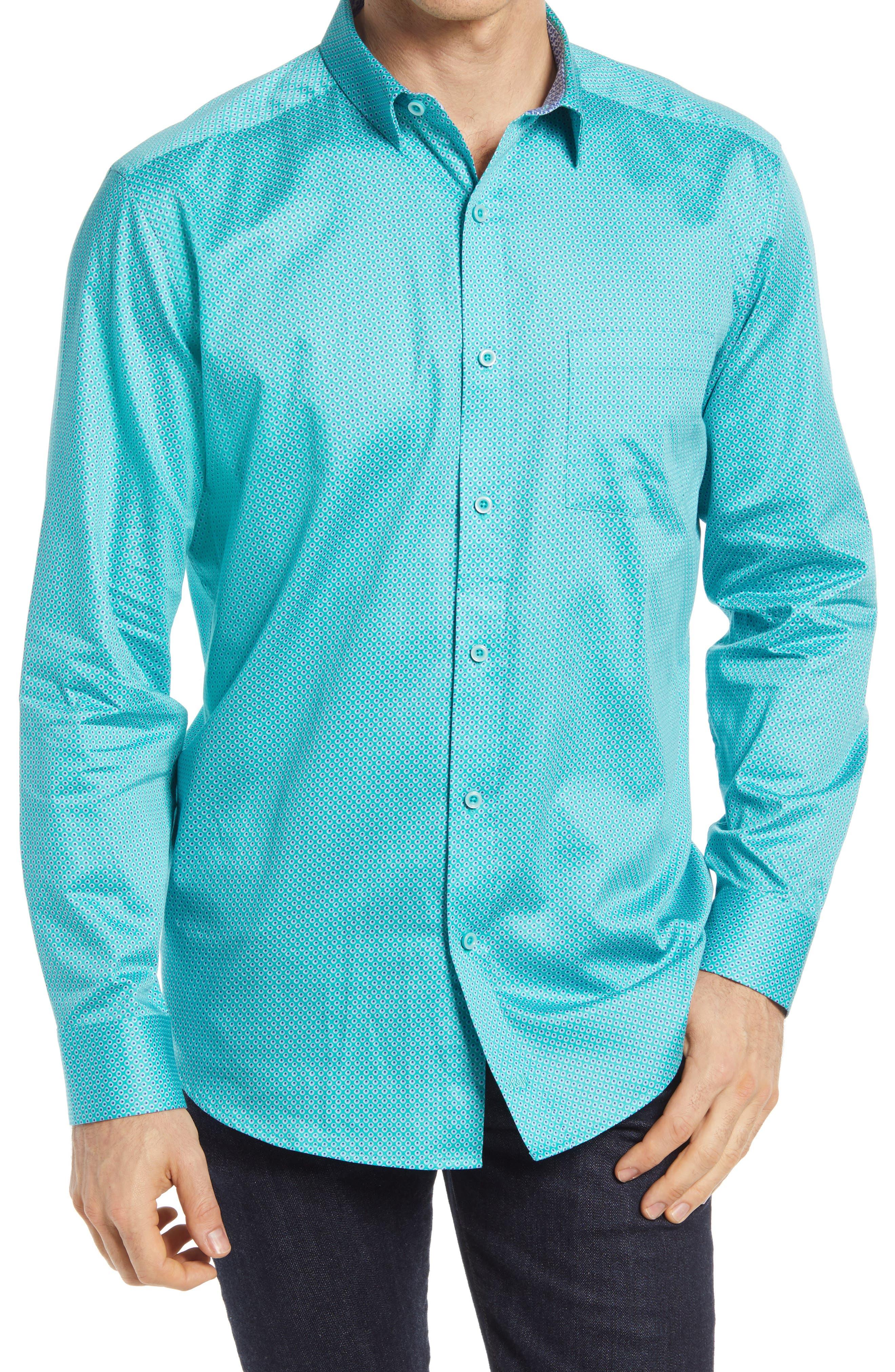 Third Eye Print Button-Up Shirt