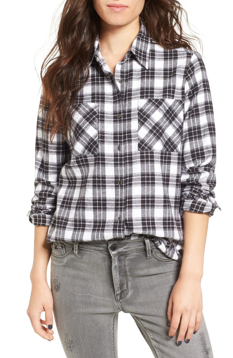 RIP CURL Nightwatch Flannel Shirt, Main, color, 001