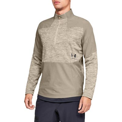 Under Armour Storm Cyclone Water Repellent Quarter Zip Pullover, Beige