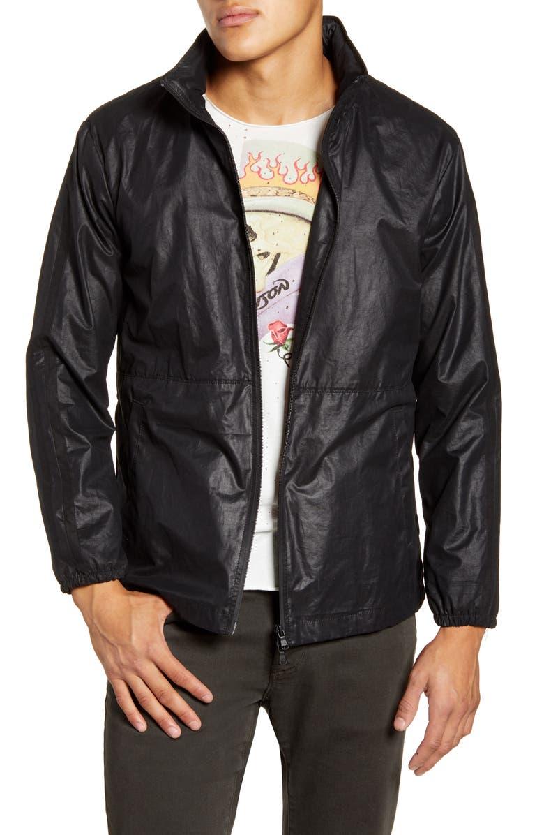 JOHN VARVATOS STAR USA Robby Water Repellent Windbreaker Jacket, Main, color, 001
