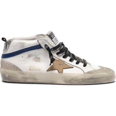 Golden Goose Mid Star Sneaker, White