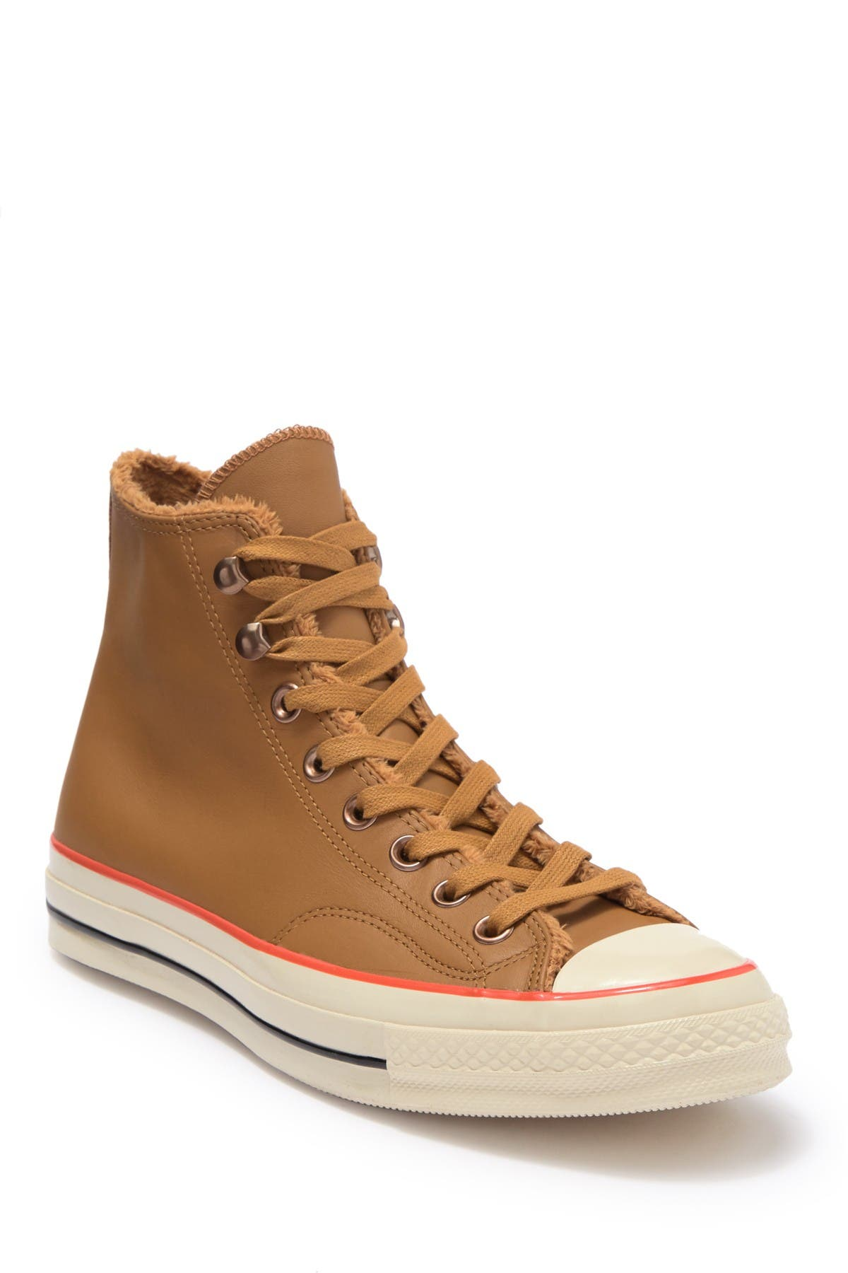 Converse Faux Fur Leather High Top Sneaker Nordstrom Rack