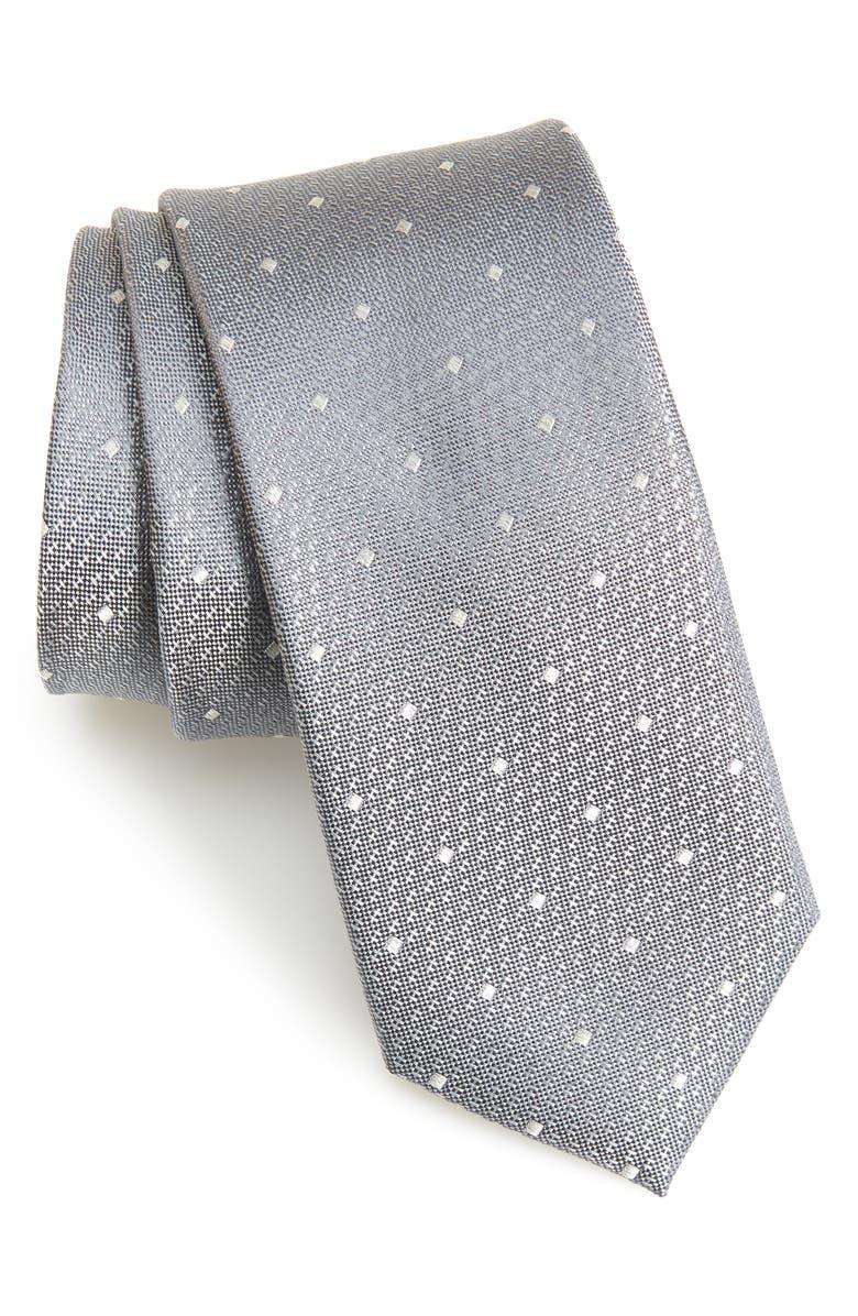 NORDSTROM MEN'S SHOP Warren Neat Silk Tie, Main, color, 020