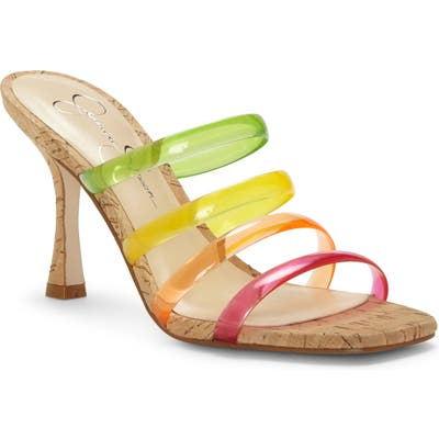Jessica Simpson Oniela Clear Strap Slide Sandal, Pink