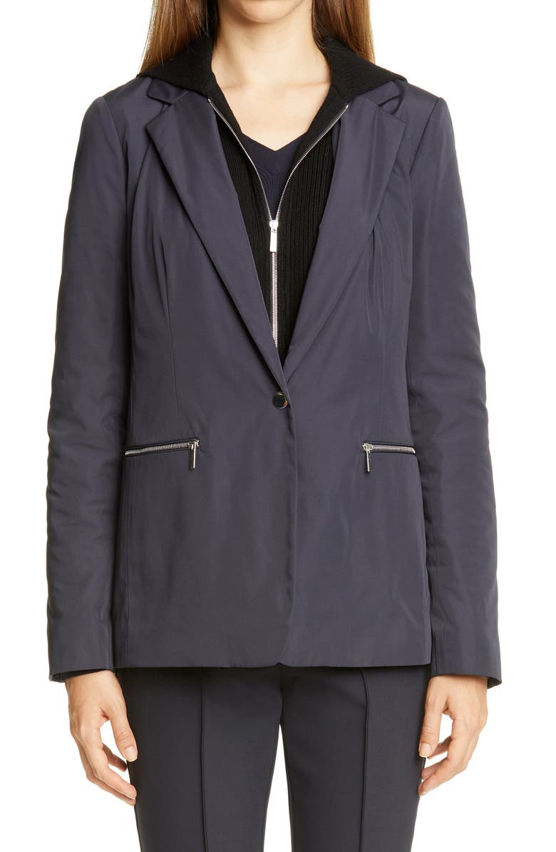 LAFAYETTE 148 NEW YORK Grady Removable Dickey Jacket, Main, color, INK