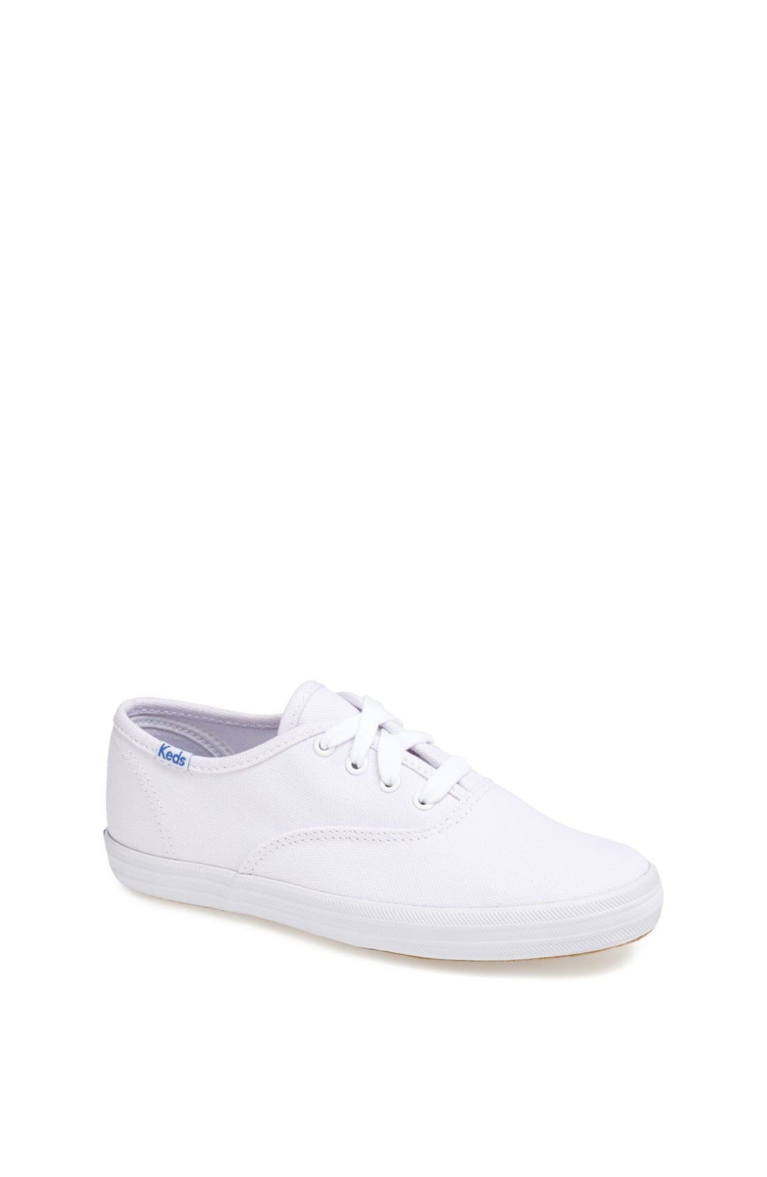 ,                             'Champion' Canvas Sneaker,                             Main thumbnail 1, color,                             NEW WHITE