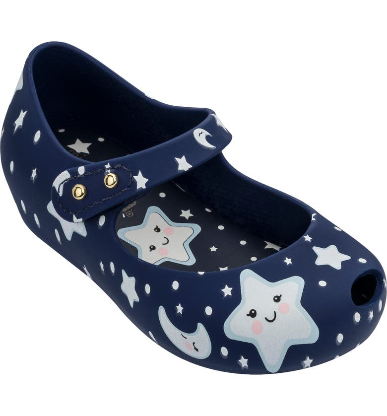 MINI MELISSA Ultra 23 Glow in the Dark Mary Jane Flat, Main, color, NAVY