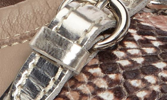 SHELL SNAKE/ SAND LEATHER