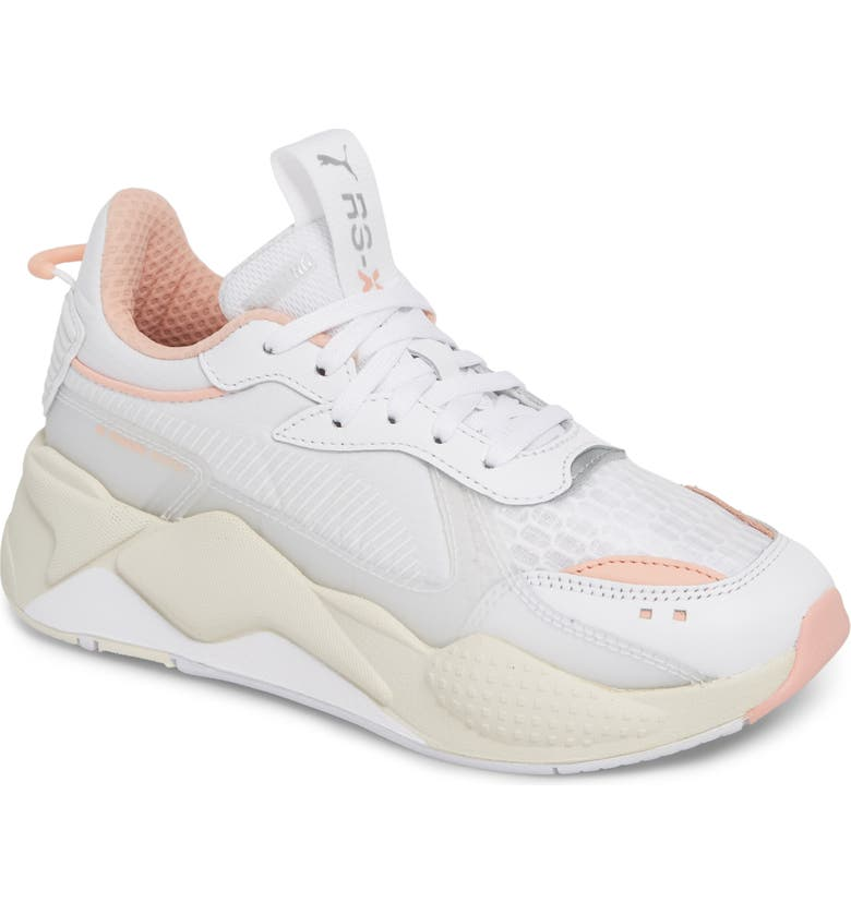 7dd5840fec16b7 RS-X Tech Sneaker, Main, color, PUMA WHITE/ PEACH BUD