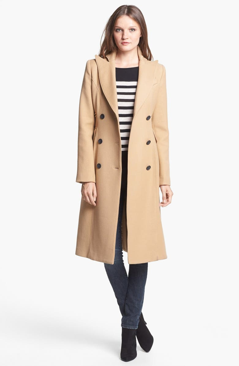SMYTHE Long Double Breasted Wool Coat, Main, color, 250