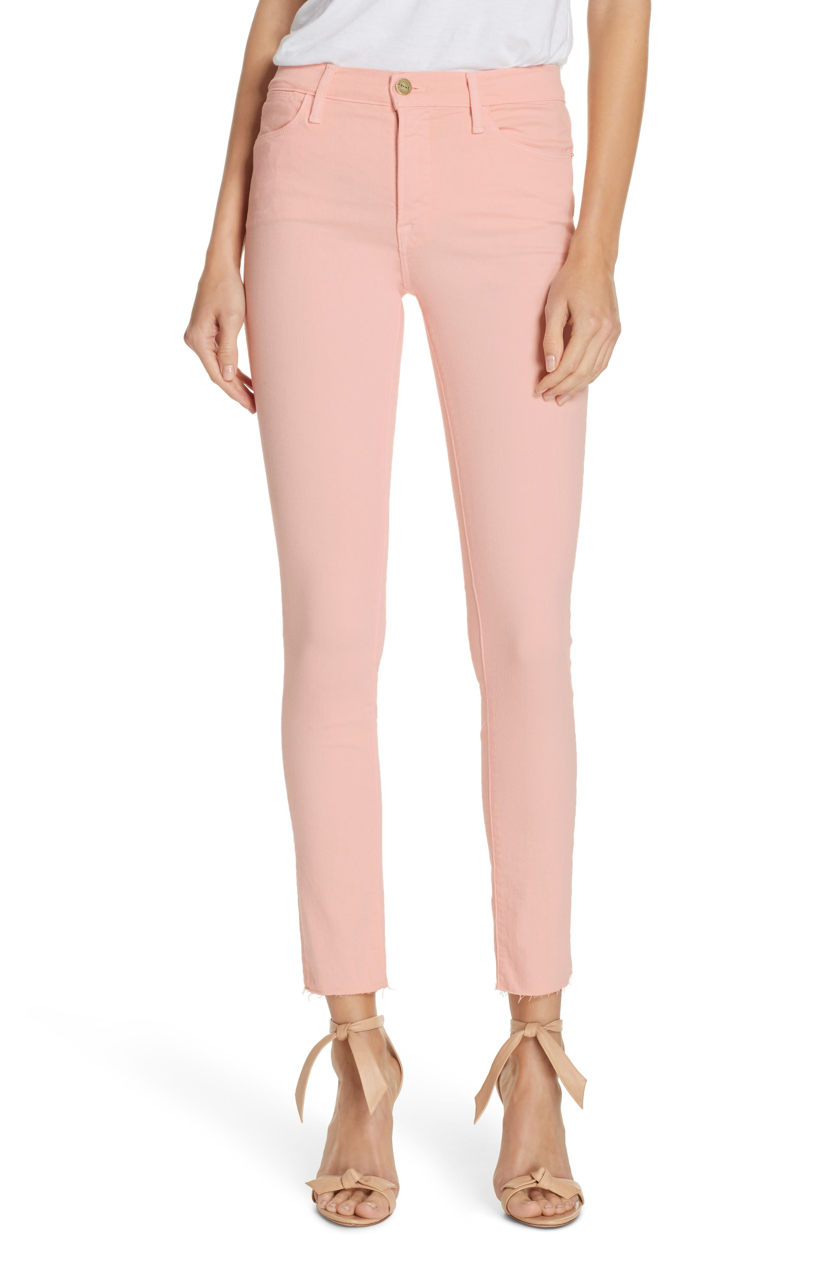 ,                             Le High Raw Hem Ankle Skinny Jeans,                             Main thumbnail 8, color,                             650