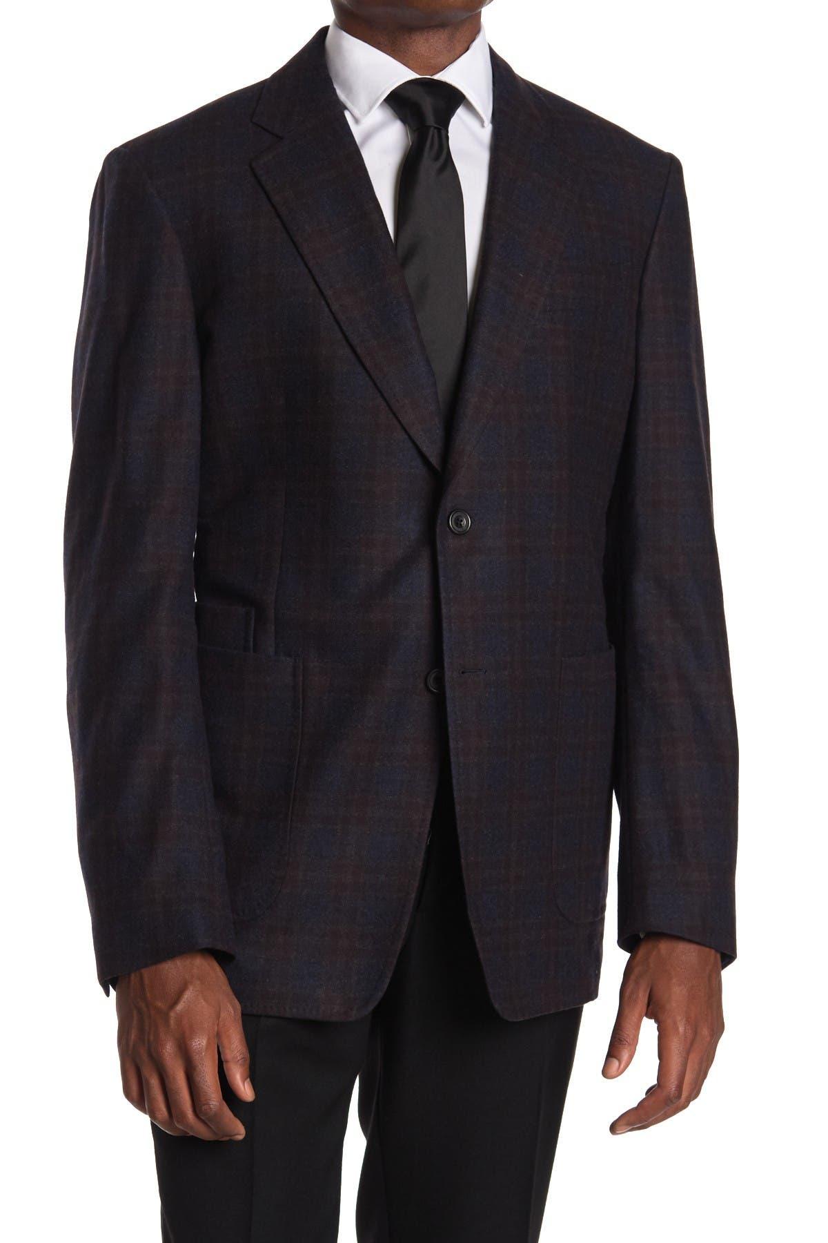 Image of THOMAS PINK Carlo Check Wool & Cashmere Blend Jacket