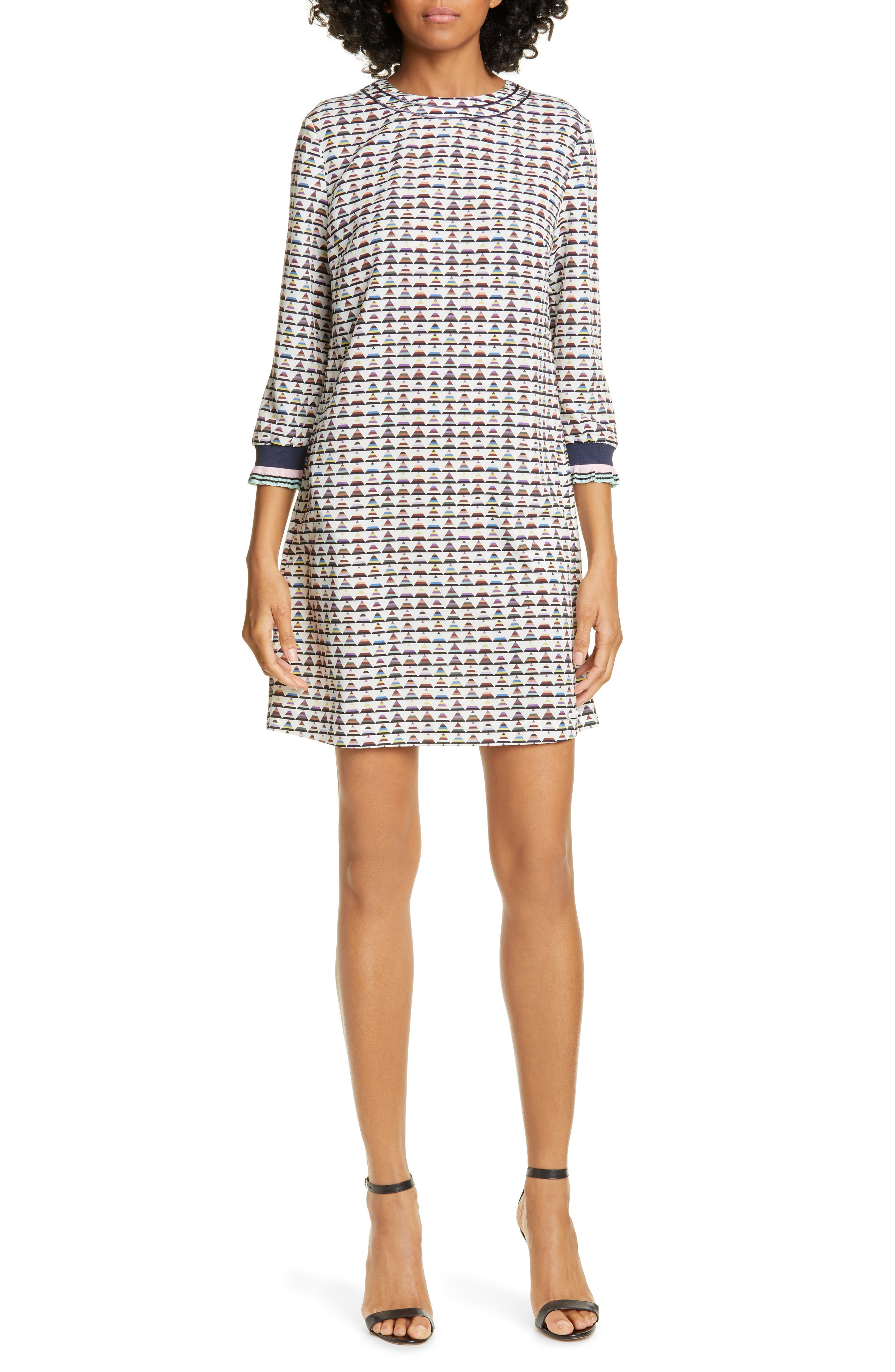 Ted Baker London Colour By Numbers Karleen Triangle Print Shift Dress, Ivory