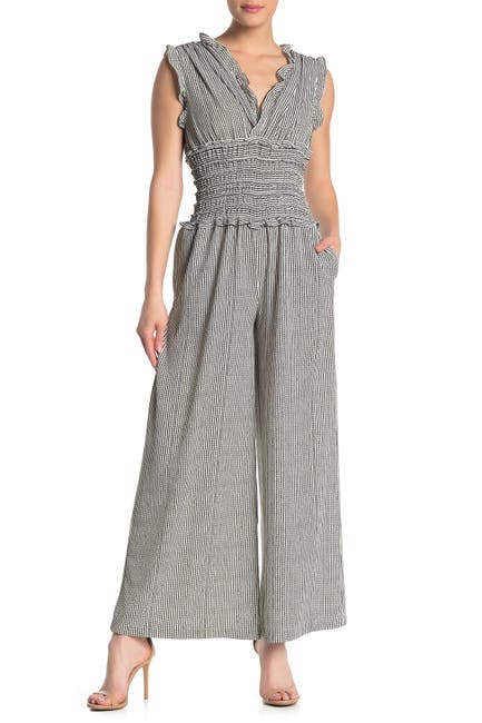 V-Neck Smocked Waist Jumpsuit  $34.97 (70% off)