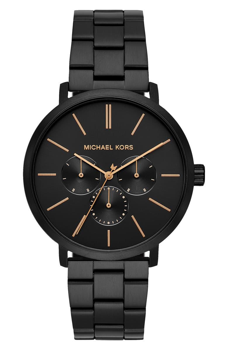 MICHAEL MICHAEL KORS Blake Bracelet Watch, 42mm, Main, color, BLACK