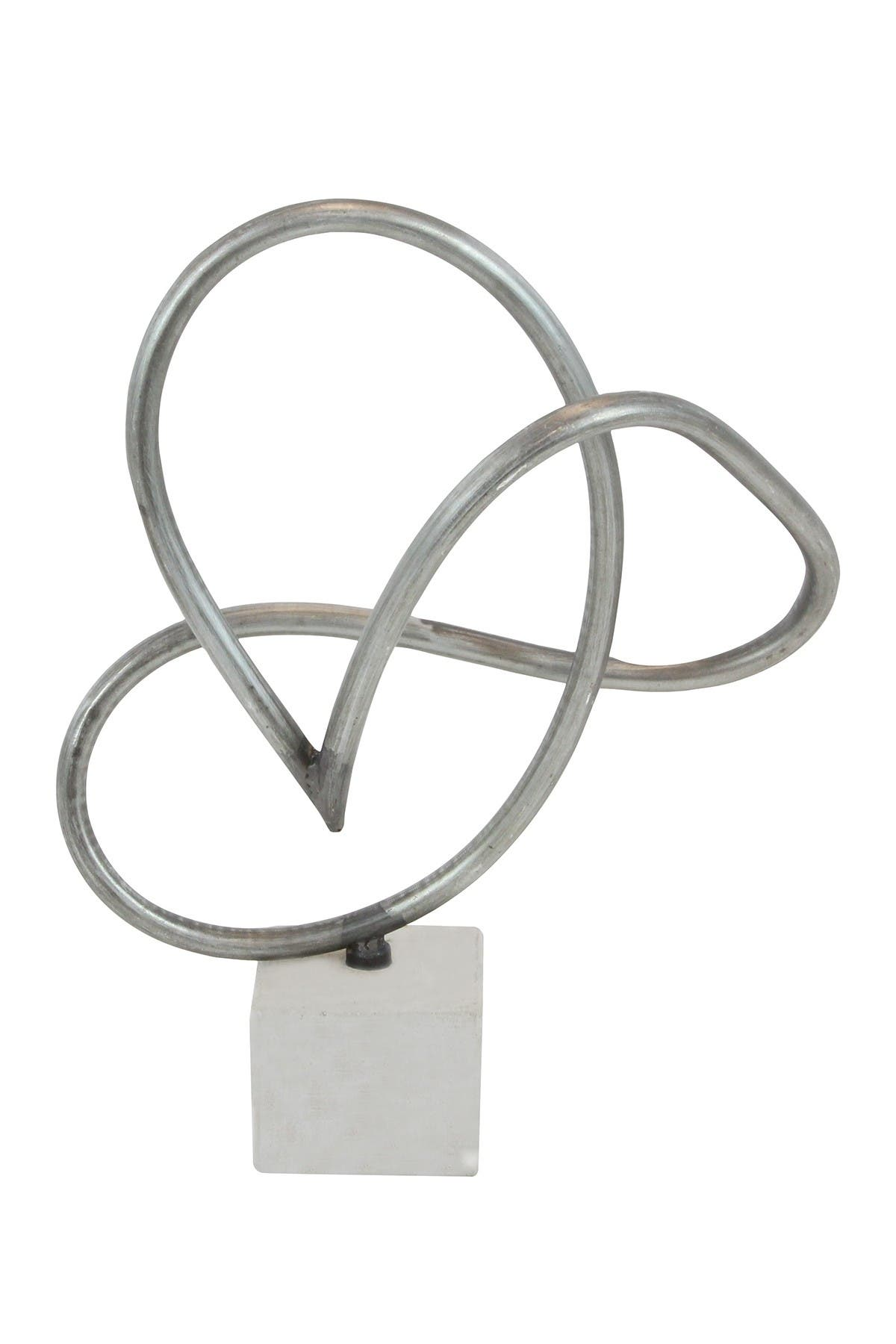 Image of Willow Row Grey Metal Contemporary Abstract Sculpture