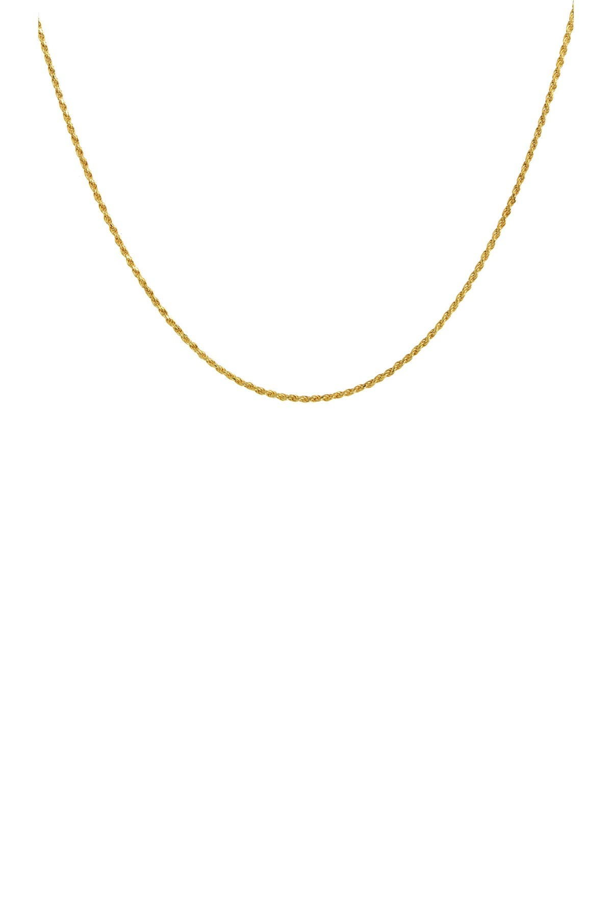 Image of Savvy Cie 18K Yellow Gold Vermeil Italian Rope Chain Necklace