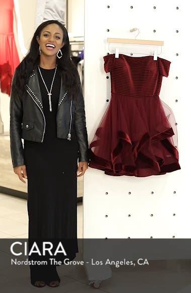 Off the Shoulder Velvet & Tulle Party Dress, sales video thumbnail