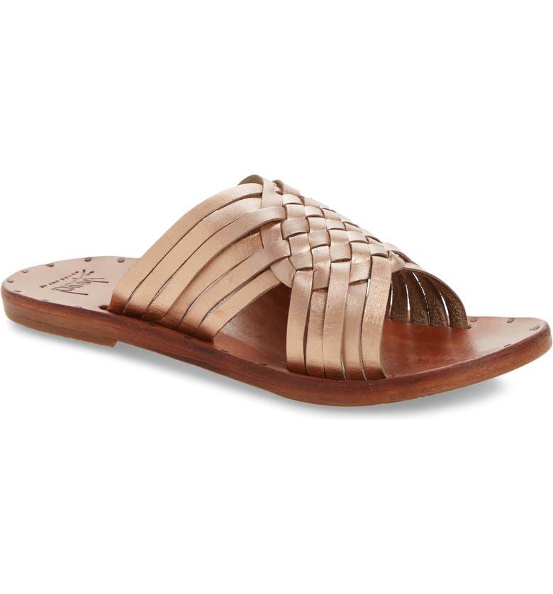 BEEK Swallow Sandal, Main, color, ROSEGOLD/TAN