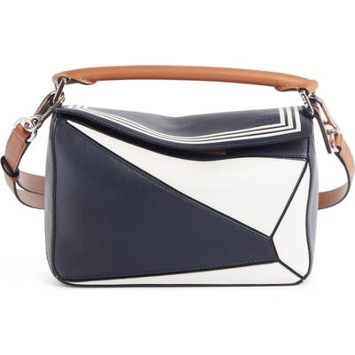 Loewe Small Puzzle Sailor Leather Bag - Blue
