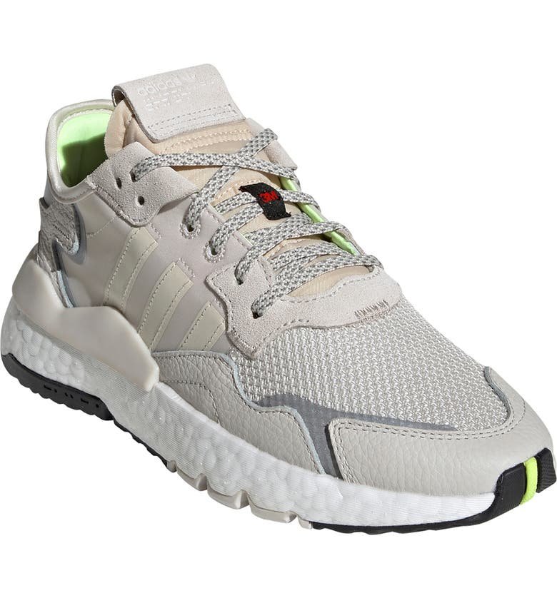 ADIDAS Nite Jogger Sneaker, Main, color, RAW WHITE/RAW WHITE/ BROWN