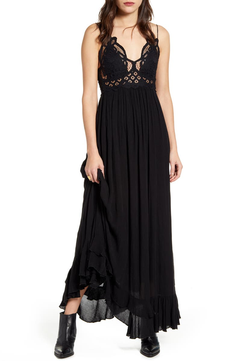 FREE PEOPLE Adella Maxi Slipdress, Main, color, 001
