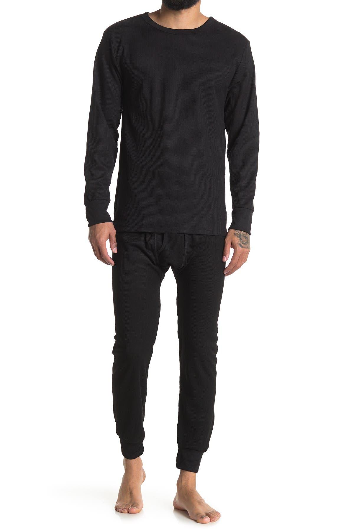 Image of Northern Exposure Thermal Shirt & Pants 2-Piece Pajama Set