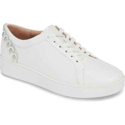 Fitflop Rally Studded Sneaker- White (Nordstrom Exclusive)