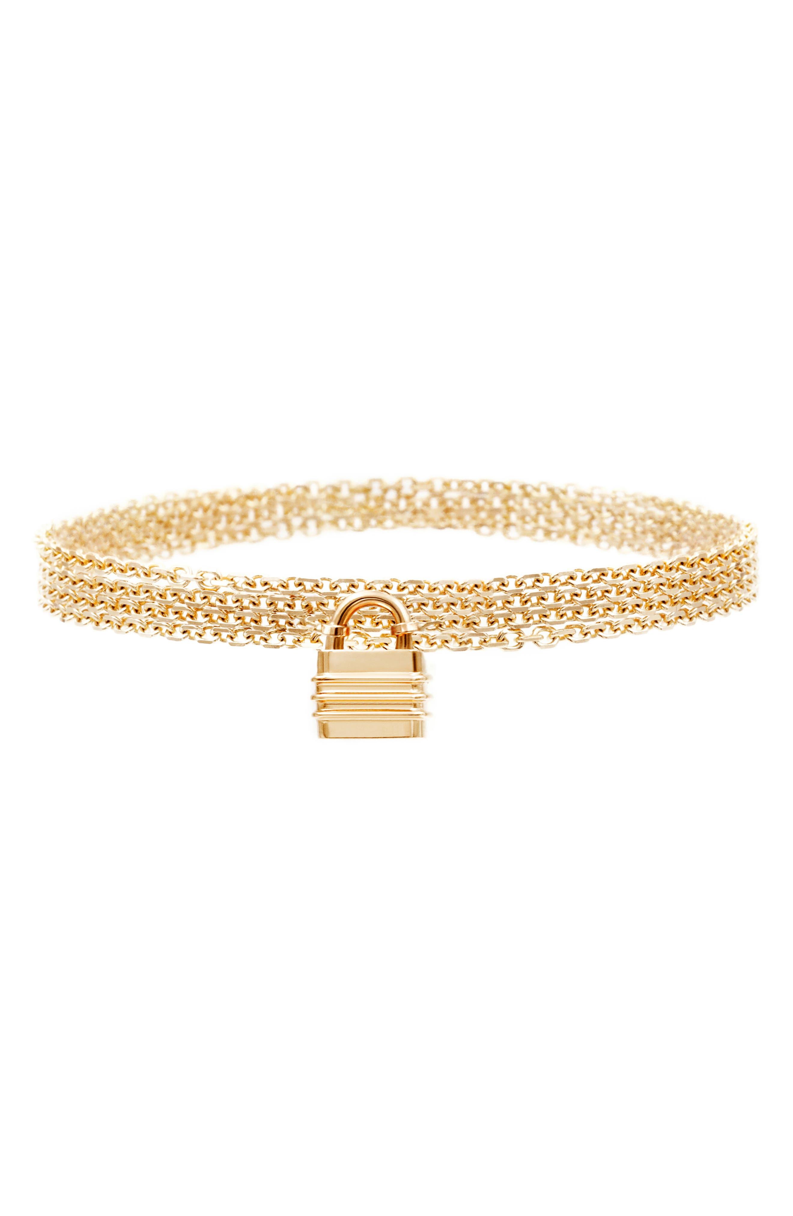 Liberte 14K Gold Multistrand Necklace/charm Bracelet